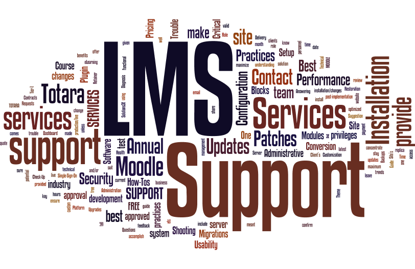 LMS Support Services   Moodle Support Services   Totara LMS Support Services