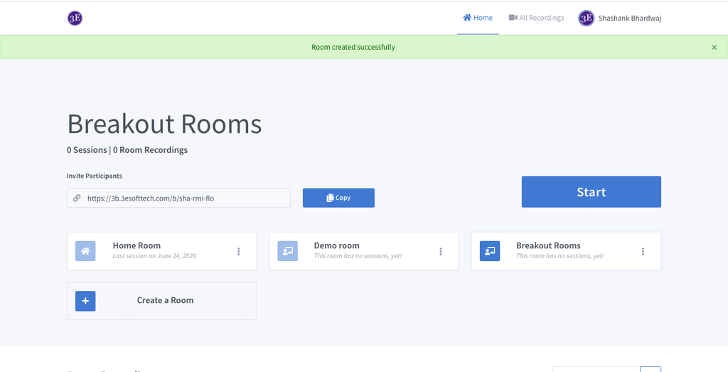 Breakout rooms, Room management, Virtual Rooms, Meeting Rooms